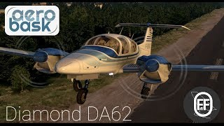 The NEW aerobask Diamond DA62 for X-Plane 11!