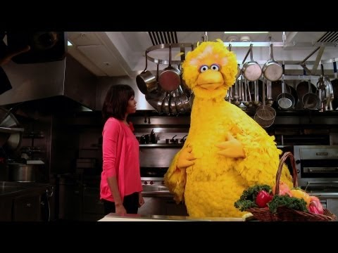 Raw Video:  First Lady Michelle Obama & Big Bird Reunite at Lets Move! PSA's