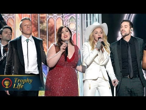 Macklemore & Ryan Lewis & Madonna Performing same Love The Grammys 2014 Performance video