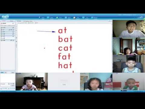 "Online English Tutoring Demo Lesson 3 - Teaching ""hooked On Phonics"" - 1 Teacher To 6 Pupils"