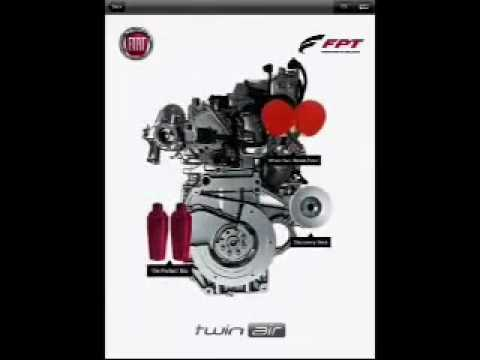 Fiat 500 TwinAir 85 HP two-cylinder engine CGI