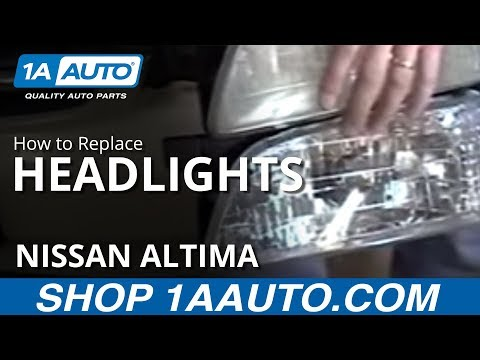 How To Install Replace Headlight 98-99 Nissan Altima 1AAuto.com