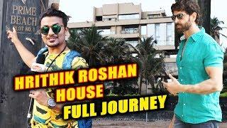 Hrithik Roshan's House In Juhu Mumbai   PRIME BEACH   Full Journey   Bollywood Ka Super Hero