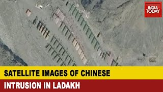 Photos Of Chinese Intrusion Near Galwan River, Ladakh; Chinese Heavy Trucks Have Moved In