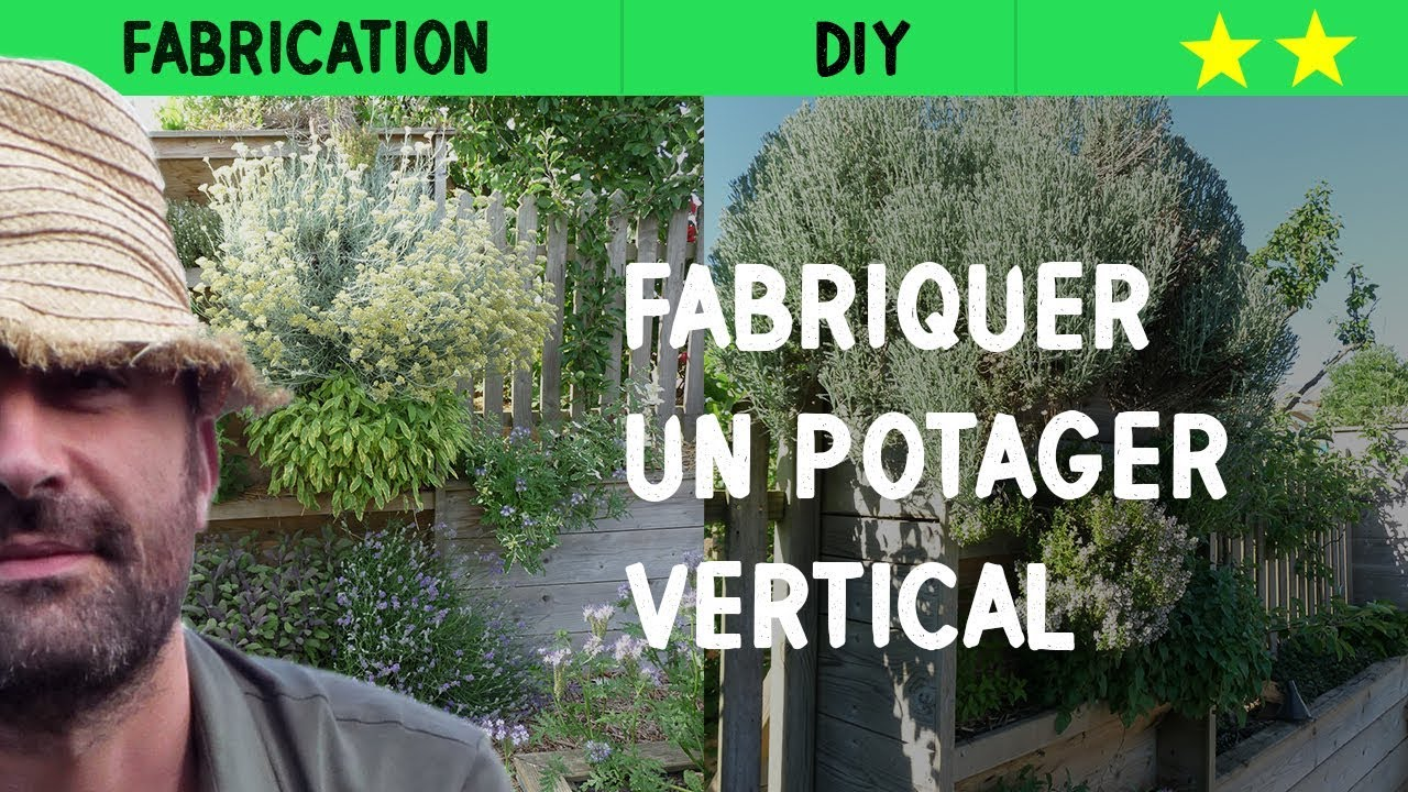 fabriquer un potager vertical youtube. Black Bedroom Furniture Sets. Home Design Ideas