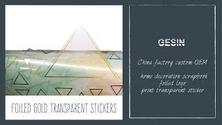 Foiled Gold Transparent Stickers