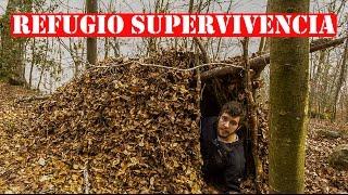 Cómo Hacer Un REFUGIO DE SUPERVIVENCIA Sólo Con Materiales Naturales