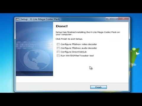شرح تثبيت برنامج K-Lite Mega Codec Pack 7.2.0
