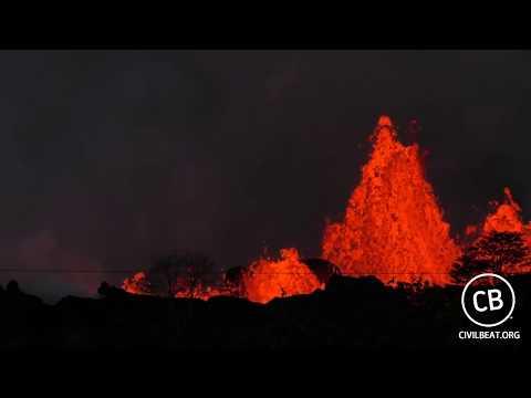 Live Video: Kilauea Lava Flow Activity In Lower Puna Hawaii