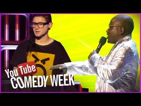 Hannibal Buress & Skrillex Gibberish Rap - The Big Live Comedy Show Highlights - YouTube Comedy Week