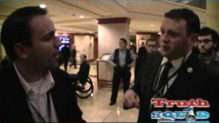 Danny Panzella Confronts Chris Bedford of YAF on Ron Paul CPAC purge smear