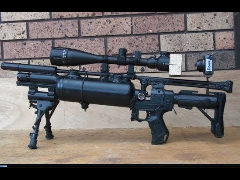 HOMEMADE Pre Charged Sniper Rifle Airsoft Gun 500 fps Best on Youtube