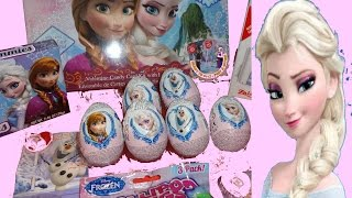 Kinder Surprise Eggs Disney FROZEN 2 Elsa Olaf RARE SNOWMAN La Reine des Neiges 2 Oeuf surprise