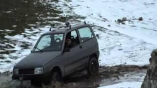 Autobianchi Y10 4wd 4x4 sulla neve
