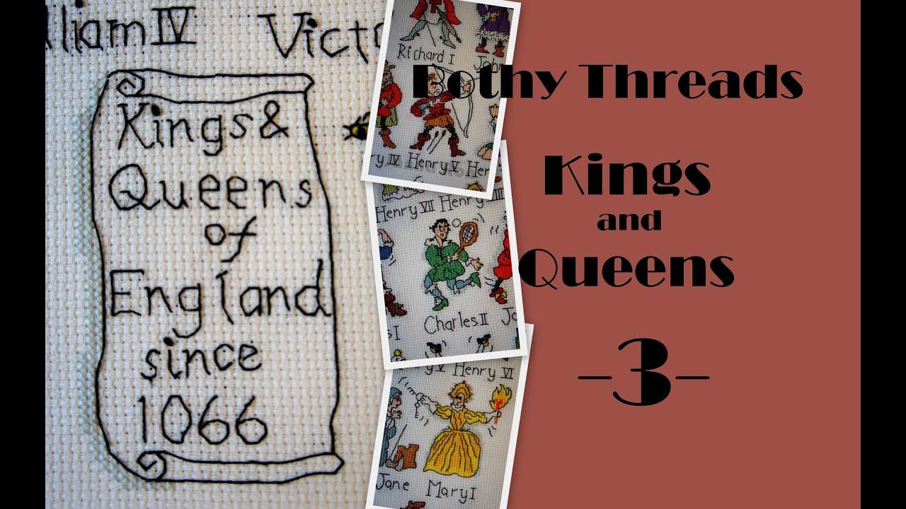 Схема вышивки короли и королевы