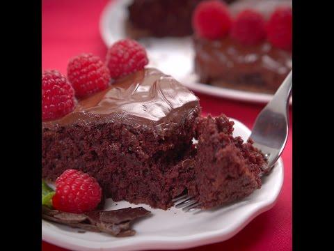 簡単!牛乳も卵もバターも使わないチョコレートケーキ♪