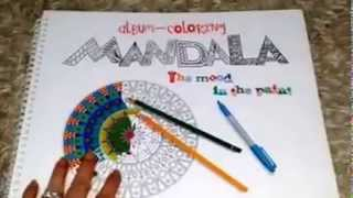Album Coloring  Mandala. The Mood in the Paint by Irena Sergeyeva