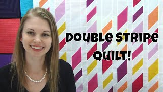 Double Stripe Diamond Quilt Tutorial - Free Quilt Pattern with Leah Day