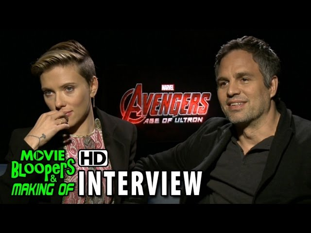 Avengers: Age of Ultron (2015) Official Movie Interview - Scarlet Johansson & Mark Ruffalo