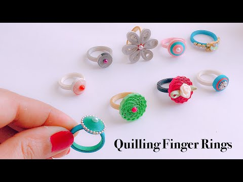 How To Make Quilling Finger Ringsimple and easy handmade paper quilling rings