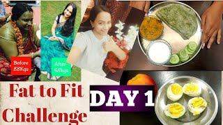 Weight loss Indian diet in telugu|| What I eat in a day||#Fittofat challenge Day 1|| Fittofat series