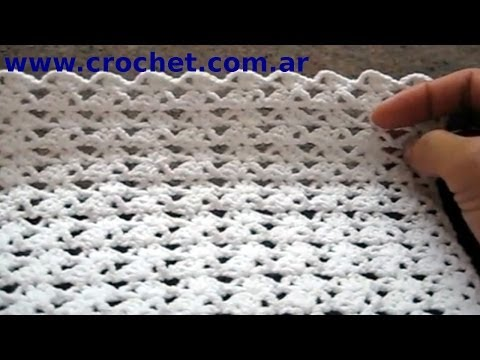 Punto Fantasía N° 39 en tejido crochet tutorial paso a paso.