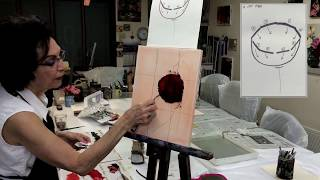 Painting Red Poppy with a Palette Knife