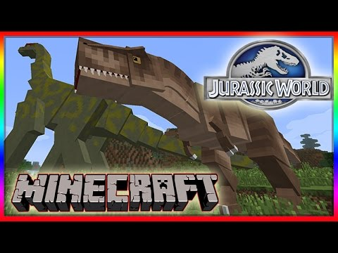 Minecraft 1.8 Jurassic World Mod Showcase! Dinosaurs. Realistic Animation & Sound Effects!