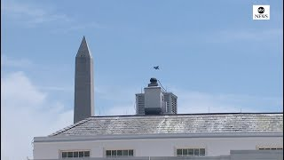 F-35 stealth fighter jets conducts flyover at White House   ABC News