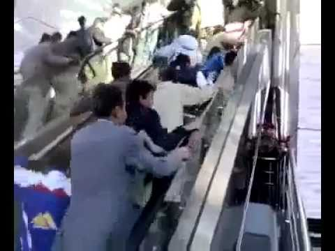 People Riding  Escalator for the First Time[Supper Funny]