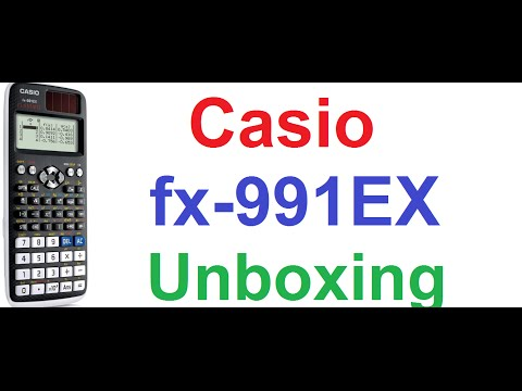 Casio fx-991EX Classwiz Scientific Calculator - Unboxing and First Review