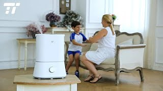TaoTronics Humidifiers, 4L Cool Mist Ultrasonic Humidifier for Bedroom Home Baby, 12-50 Hours