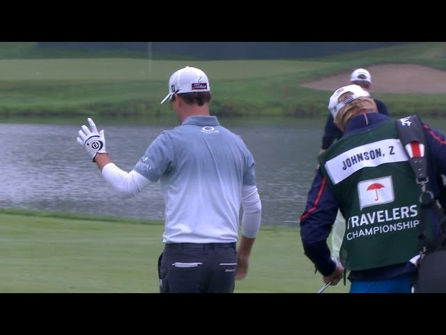 Zach Johnson's solid approach nearly lands in the cup at Travelers