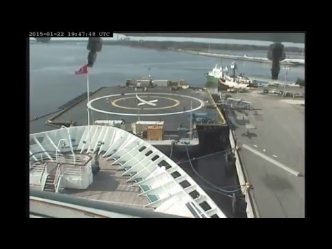 SpaceX Barges JRTI/OCISLY 2015 Timelapse