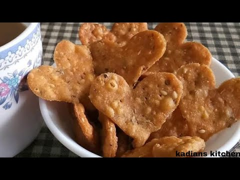 Wheat flour little Hearts/Methi little Hearts/Atta Nimki/Khasta Namkeen Recipe by Kadian's Kitchen