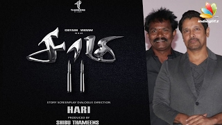 Vikram's Saamy 2 Poster | Director Hari on his next movie