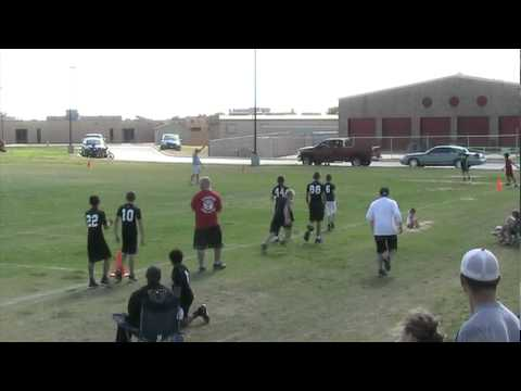 Andrew Taylor - McGregor Bulldogs - 7-on-7 Football Highlights  - 5-7-2011