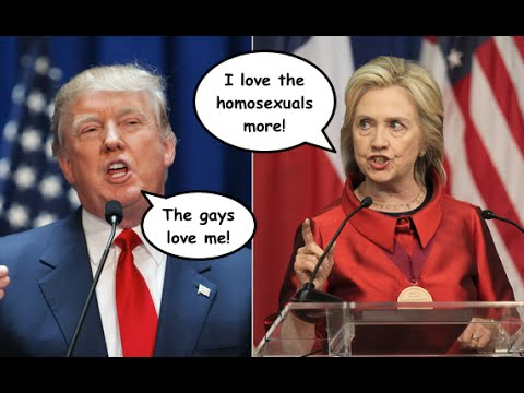 "Hillary Clinton & Donald Trump Spar Over Who's More ""Pro-Gay"""