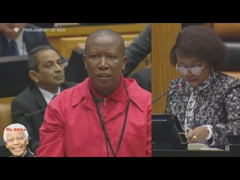 Julius Malema To Take Speaker  Baleka Mbete To Court.
