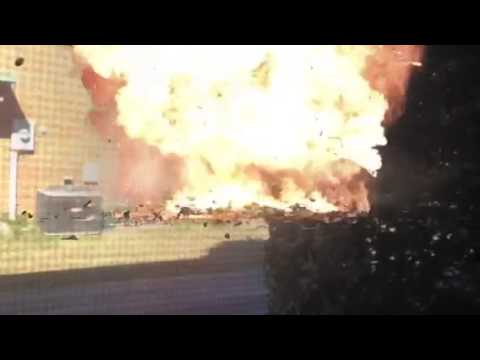 Explosion near subway