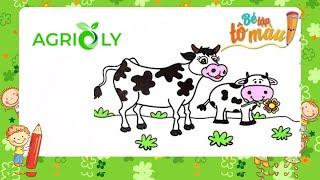 Bé Tập Tô Màu | Bé Tập Vẽ Và Tô Màu Con Bò Sữa