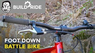 Playing Foot Down on my Battle Bike | Build and Ride