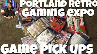 Game pick ups from PRGE 2019 (Portland Retro Gaming Expo)