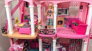Barbie Dream House Pause Challenge! Barbie Chelsea Skipper Stacie!