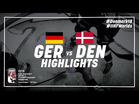 Game Highlights: Germany vs Denmark May 4 2018 | #IIHFWorlds 2018
