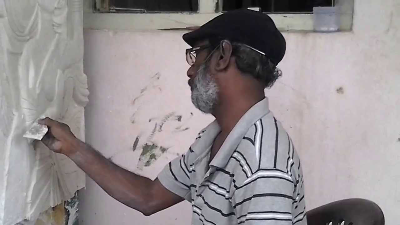 Making of radhakrishna wall relief mural creativebrahma for Creating a mural