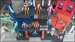 Power Rangers Dino Charge 10 Rangers take the fortress toys 파워레인저 다이노포스 10명 레인저 요새 함락 장난감 놀이