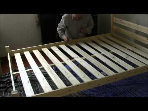 assemble pine wood bedframe 6