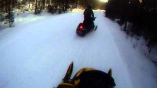 caught by the cops on a sled!
