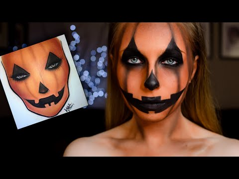 Charakteryzacja Na HALLOWEEN ** Pumpkin Makeup TUTORIAL